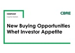 New Buying Opportunities Whet Investor Appetite
